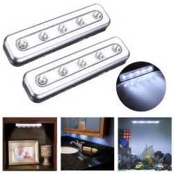 tap lights 5 led self stick cabinet push light