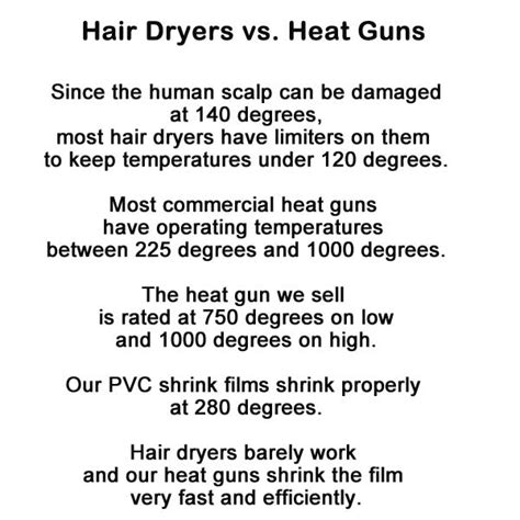 Hair Dryer Vs Heat Gun dome shrink bags shop with paper mart