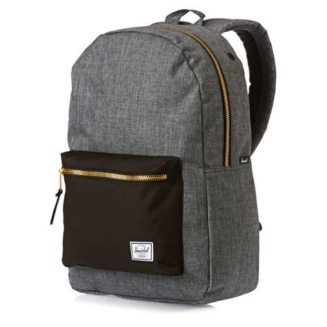 Backpack Herschel herschel backpacks herschel settlement backpack charcoal crosshatch black bag