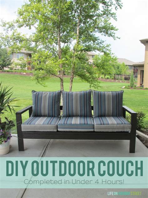 diy outdoor sofa free outdoor furniture plans help you create your own