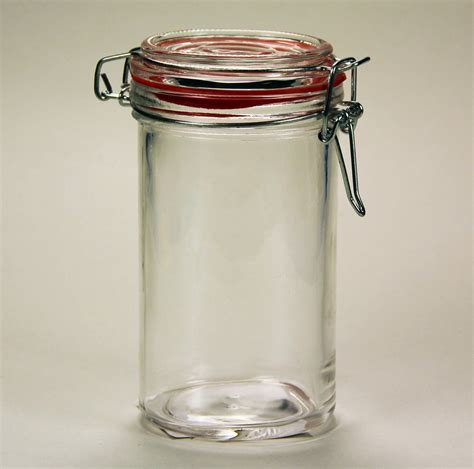 glass jars 60 7036 glass jar with locking lid etchworld your glass etching store