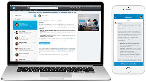 Linkedin Opens Sponsored Inmail To All As Yet More Ad Products Come To Messaging Platforms Linkedin Ad Template