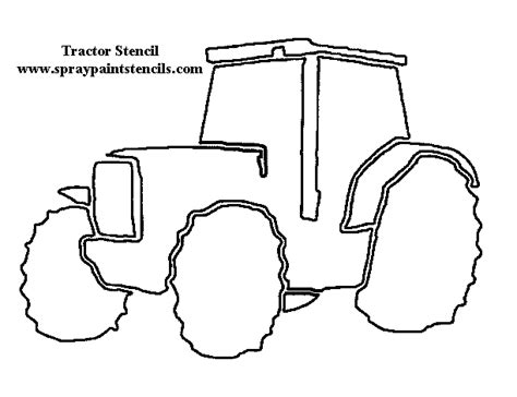 tractor template printable free agricultural stencils page 2