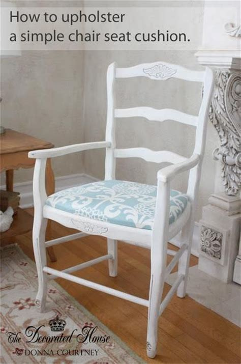 Diy Dining Chair Cushions Diy Upholster A Simple Chair Seat Cushion Diy Chair Slipcovers Diy Home Diy Furniture Wooden
