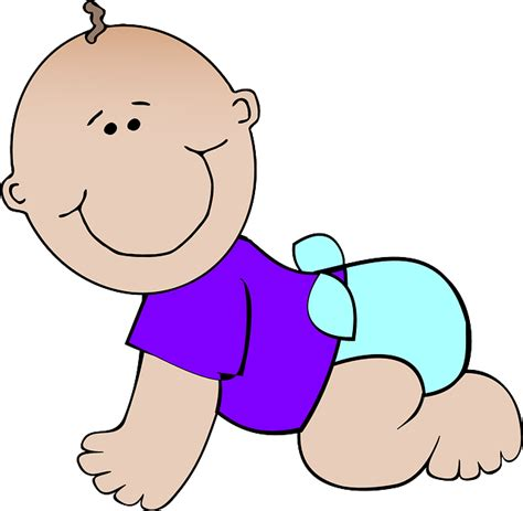 baby clip baby nappy 183 free vector graphic on pixabay