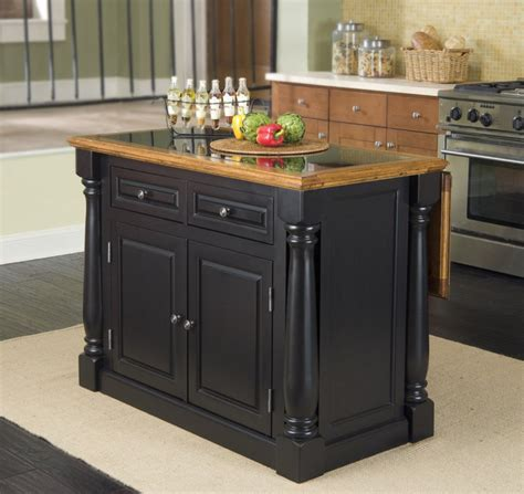 Black Kitchen Island Cart granite top kitchen island house furniture