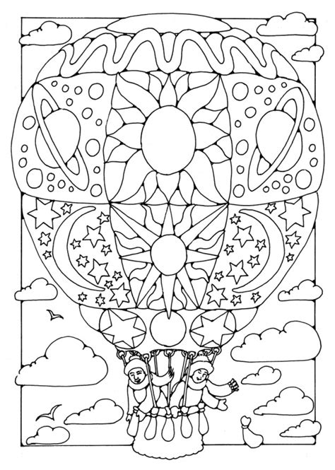 western hot air balloon coloring pages coloring pages