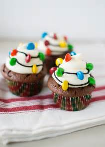 christmas light cupcakes baked bree