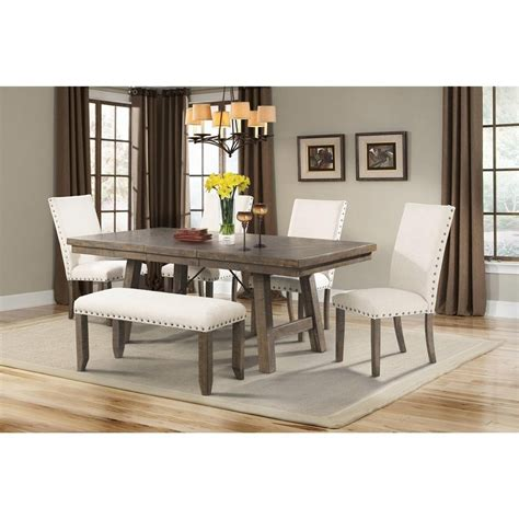 Dining Room Sets In El Paso Tx Elements International Jax Rustic Dining Set With Bench