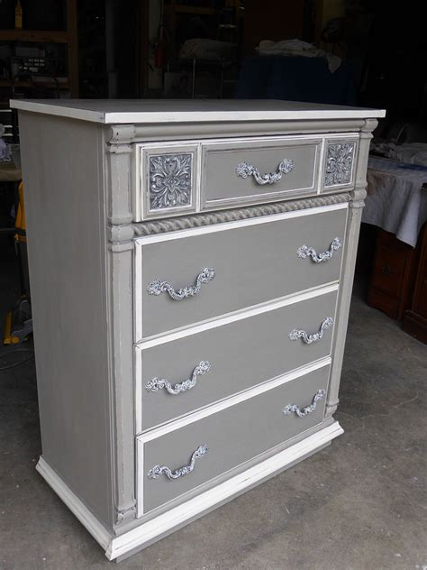 chalk paint grey hometalk sophisticated grey painted dresser