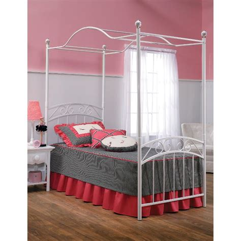 white twin canopy bed emily white twin canopy bed