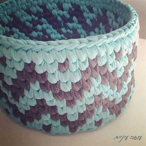 crochet basket pattern with t shirt yarn facebook t shirt yarn pinterest crochet baskets