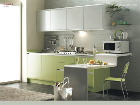 interior designs of kitchen beautiful green kitchen modern interior design 14707