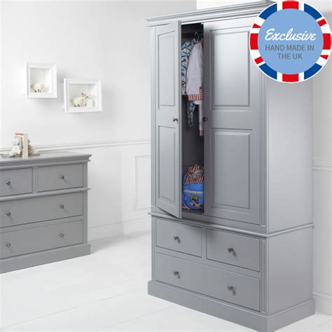 Childrens Wardrobes Uk - archie 2 door 3 drawer wardrobe boys wardrobes