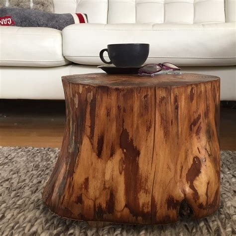 tree trunk coffee table loccie  homes