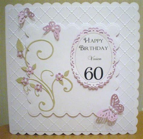 Handmade 60th Birthday Cards - 60th birthday card spellbinders