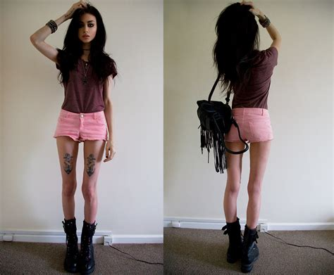 Topshop Smart Shorts by Felice Fawn Topman Purple Top Topshop Pink Shorts