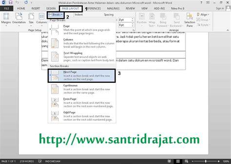membuat web satu halaman cara membatasi dokumen microsoft word dalam satu file