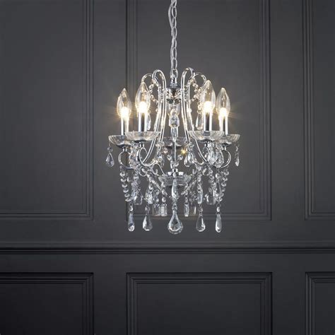 Chandelier Bathroom Lighting Marquis By Waterford Annalee Small Led 5 Light Bathroom Chandelier Chrome From Litecraft
