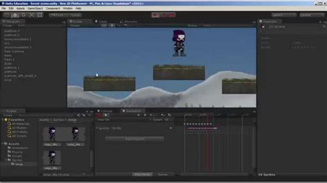 game design tutorial unity unity 5 2d game design animations part 1 youtube