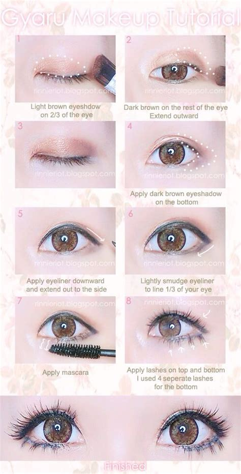 tutorial makeup kawaii simple gyaru eye makeup tutorial kawaii gyaru makeup