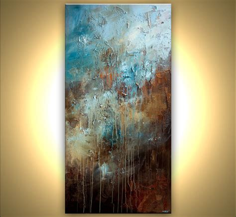 abstract textured paintings large contemporary modern abstract painting blue brown