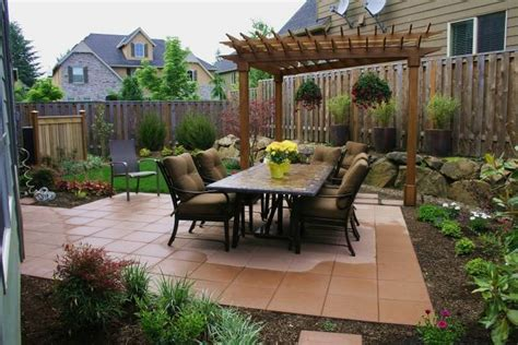 Ideas For A Backyard Small Backyard Patio Designs With Fireplace On A Budget This For All