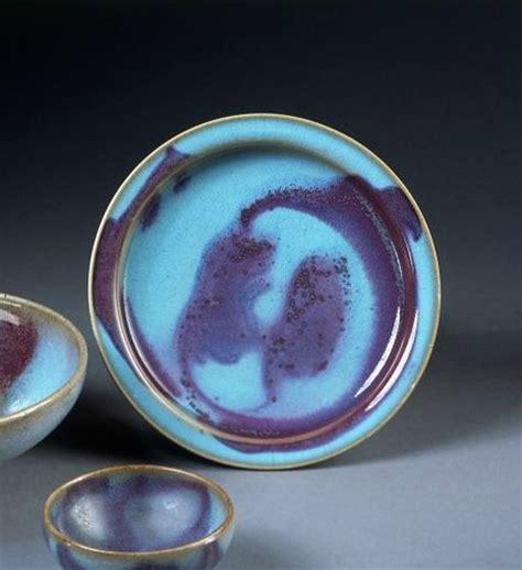 song ware blue glaze and coper splashes dish jun ware china