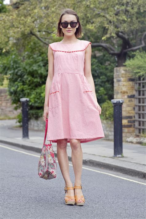 Cath Kidston Print Dress Ckd Hamsted Blue floral fashion trend summer 2014 just the design
