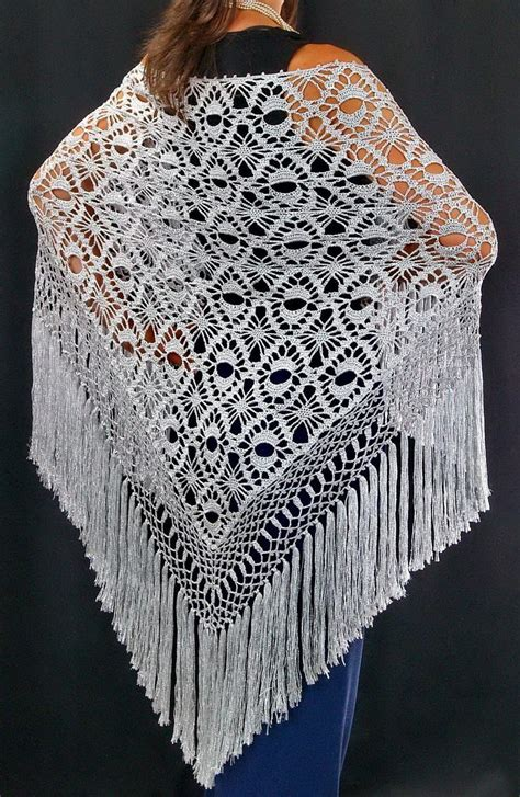 shawl pattern free crochet shawls crochet shawl silver silk shawl
