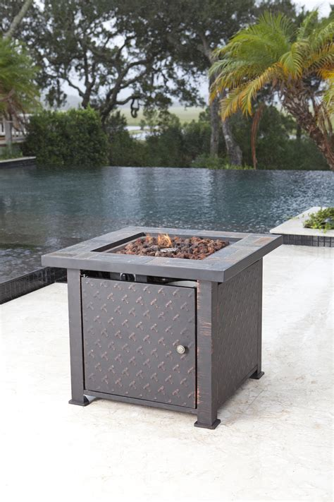 Penbrook Slate Top Lpg Fire Pit Well Traveled Living Slate Firepit