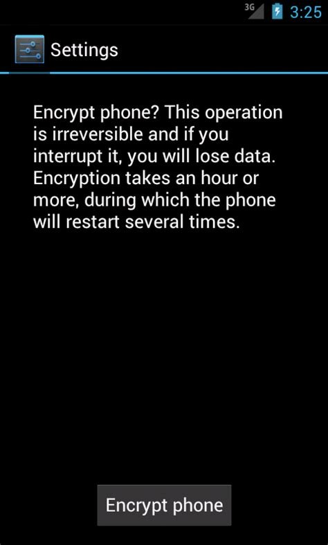android encryption emory lits information technology android