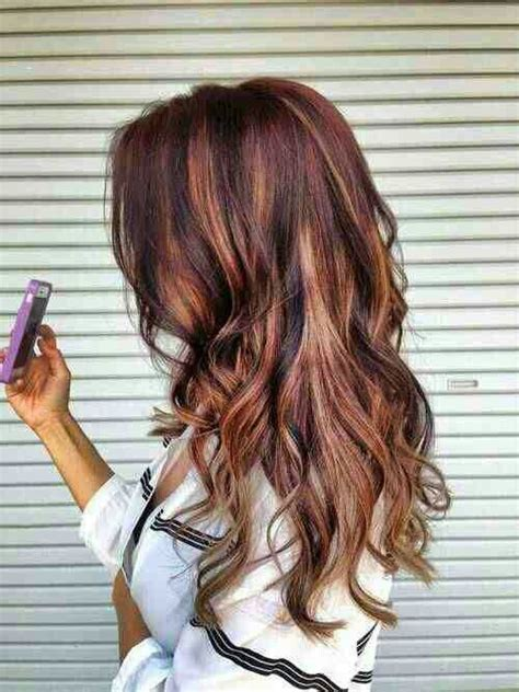 fall highlights for brown hair dark brown hair with red highlights great hair