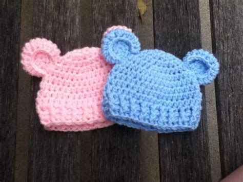 pattern crochet newborn beanie quot baby bear quot simple baby beanie craftsy