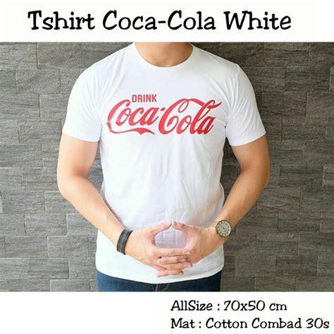 Busana Pria Pakaian Baju Polo Distro Motif Putih Gading Murah jual baju kaos polos putih motif coca cola baju distro