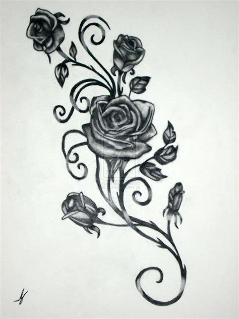 rose thorn tattoo designs www imgkid com the image kid