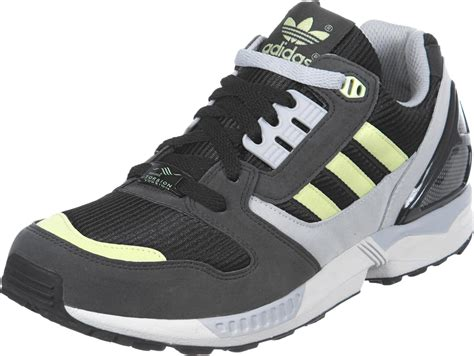 adidas zx 8000 shoes black grey yellow