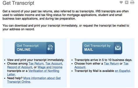 www irs govov faq how do i download a tax transcript from irs gov e