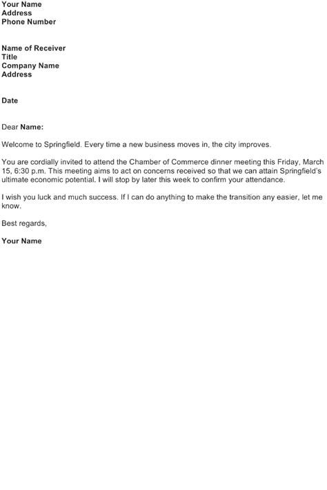 welcome letter sle free business letter