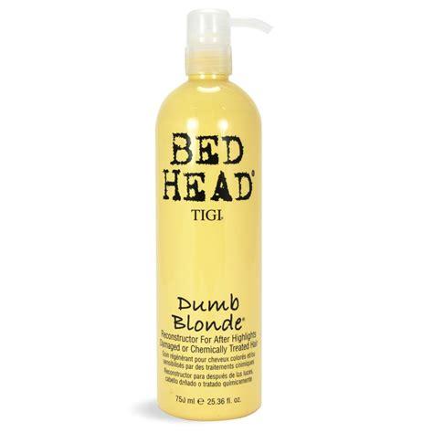 tigi bed head shoo tigi bed head dumb blonde reconstructor