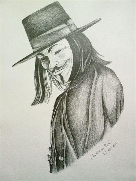 Drawing V For Vendetta v 27 02 2010 by christiaanr1990 on deviantart