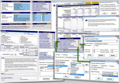 excel templates for customer database free excel invoice template