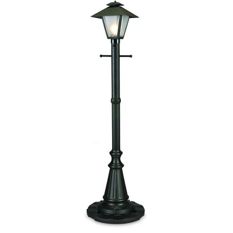 Patio Pole Lights Patio Living Concepts Cape Cod Black Outdoor In Post Lantern Patio 67000 The Home Depot
