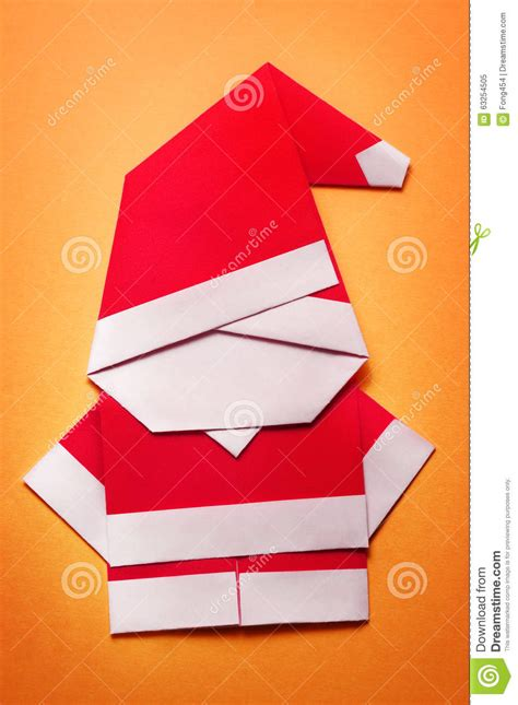 Santa Paper Craft - origami santa claus paper craft stock illustration image