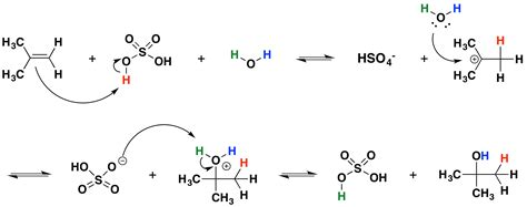 hydration reaction hydration of alkenes chemistry libretexts