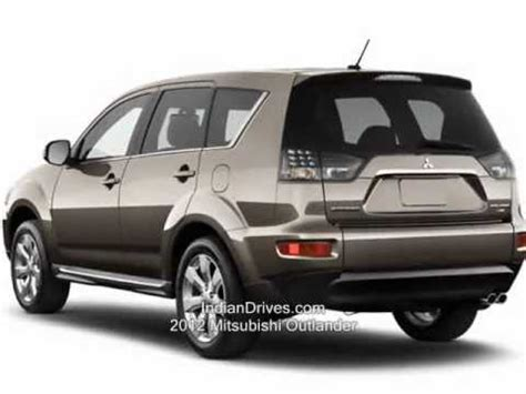 2012 mitsubishi outlander 7 seater suv launched youtube