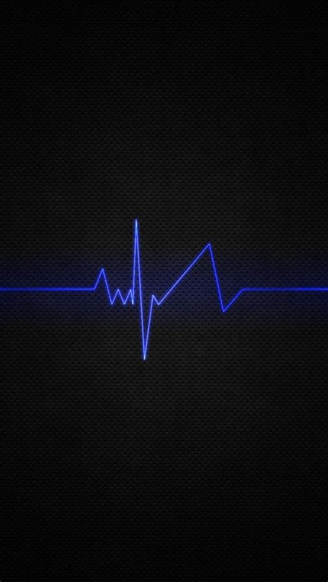 blue dark heart beat light minimalistic wallpaper