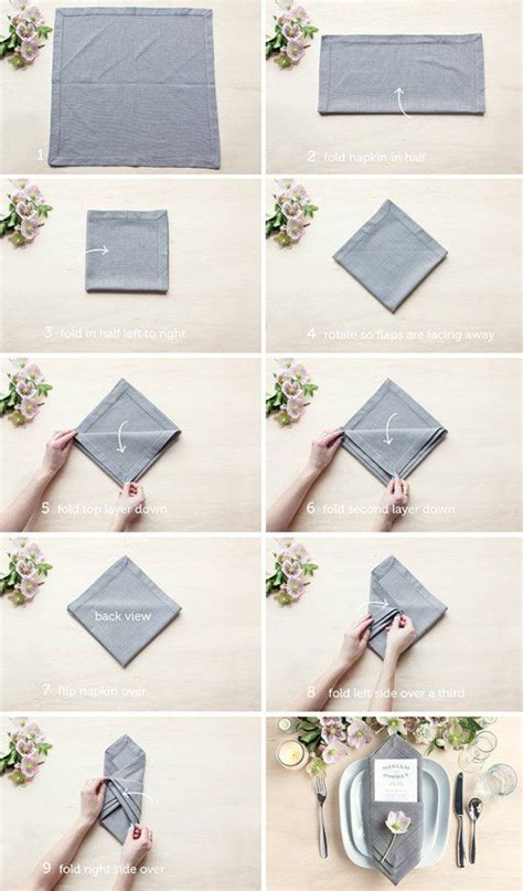 Simple Paper Napkin Folding - 25 best ideas about folding napkins on