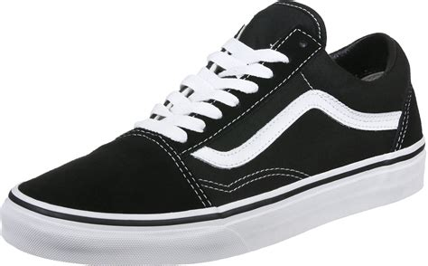 Wei E Schuhe by Vans Skool Shoes Black White