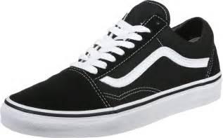 Wei E Schuhe by Vans Skool Shoes Black White